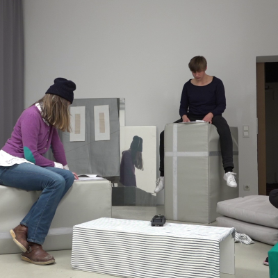 Frauke Zabel und Johanna Klingler: Arbeitsphase, work in process