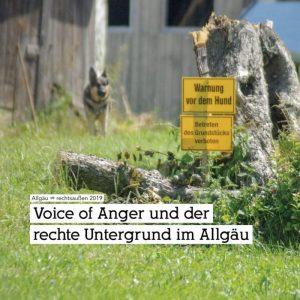 Allgäu ⇏ rechtsaußen – Wie gefährlich ist der rechte Untergrund im Allgäu?