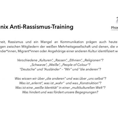 Phoenix Anti-Rassismus-Training